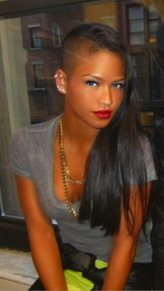Stunning...I did have half my head shaved in middle school :)
