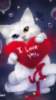 Valentines Day Quotes : QUOTATION – Image : Quotes Of the day – Description I Love You Animation Sharing is Caring – Don't forget to share this quote ! Gif Pictures, Love Pictures, Love Images, Images Gif, Love You Gif, My Love, I Love Cats, Cute Cats, I Love You Animation