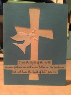 My son's baptism invitation.love the Cricut! Baptism Quotes, Baptism Cards, Baptism Ideas, Baptism Invitations, Light Of Life, Happy Things, Sunday School, Book Quotes, Great Quotes