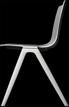 A-Chair by Brunner. Modular construction, plastic, aluminium, wood and fabric or leather combinations. Ph. & source Brunner.