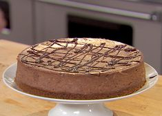 Chocolate Espresso Cheesecake with Ganache from FoodNetwork.com