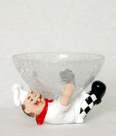 decorative fat chef w with candy bowl holder