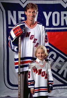Wayne Gretzky and son Ty And Player Wayne Gretzky.