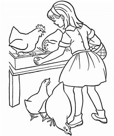 Hen house coloring page Free Printable Coloring Pages birds