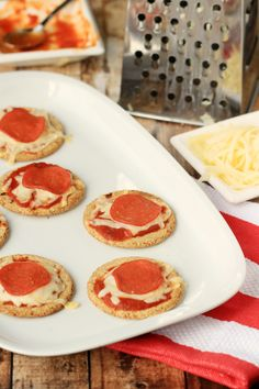 Cracker Pizzas made
