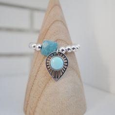 Bracelet Ylang sur perles argent et insertion Quartz New SS16 collection