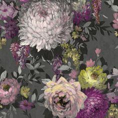 Bold Wallpaper, Jewel Tones, Color Splash, Floral Design, Drama, 3d, Colour, Portrait, Painting