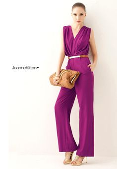 2015 New woman jumpsuits V neck summer elegant formal OL work wear lady rompers overalls for women purple, green,blue-inJumpsuits & Rompers from Women's Clothing & Accessories on Aliexpress.com | Alibaba Group
