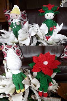 Gehaakte Bloemenpoppen gemaakt door Marijke K - haakpatronen van Zabbez uit het boek Bloemenpoppen Haken