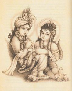 Shree Krishna with Balraam Arte Krishna, Krishna Lila, Little Krishna, Jai Shree Krishna, Radha Krishna Love, Krishna Radha, Hanuman, Krishna Drawing, Krishna Painting