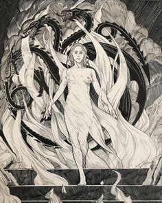 Mother of Dragons Game Of Thrones Artwork, Game Of Thrones Fans, Daenerys Targaryen, Khaleesi, Got Dragons, Mother Of Dragons, Deco Gamer, Daenerys And Jon, Dragon Dreaming