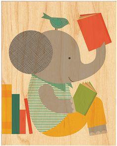 Petit Collage elephant