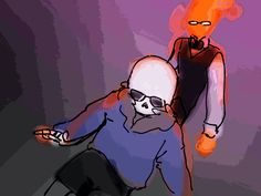 fel-fisk:  30 Day OTP Challenge ft. Sans and Grillby #20[[drunk as f*ck]] dancing on my deviantart///essentially i saw the gif below and i just kinda had to do this///