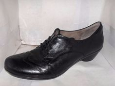 NATURALIZER  N5 COMFORT WOMENS BLACK LEATHER WING TIP OXFORDS SIZE 11 M #Naturalizer #Oxfords #Casual
