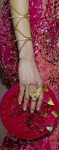 "regilla: ""Regilla ⚜ Georges Hobeika Couture Spring 2018 "" Couture Details, Fashion Details, Fashion Design, Georges Hobeika, Body Jewelry, Jewellery, Colorful Fashion, Couture Fashion, Pretty In Pink"