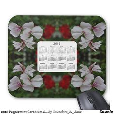 2018 Peppermint Geranium Calendar by Janz Mouse Pad