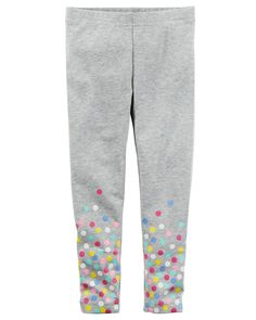 Baby Girl Polka Dot Heathered Leggings from Carters.com. Shop clothing & accessories from a trusted name in kids, toddlers, and baby clothes.