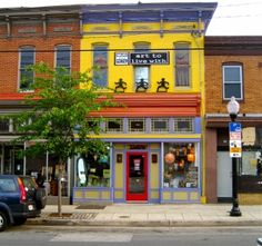 Colorful Storefronts - Baltimore ; article on 'local washing'