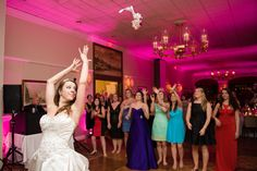 When the DJ counts to 3, do a fake out toss on each so your photographer can get a good focus set so that at your real toss everything will be perfect.  The shot from the side allows you to see everything going on.  Gina and Matt's love shone like the brightest beacon in New England during their wedding at the Downtown Harvard Club » Fucci's Photos of Boston–Something Blue Blog | Boston Wedding Photographer