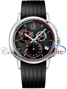 Calvin Klein K1V27704 Watch Drive Mens - Black Dial Stainless Steel Case Quartz Movement