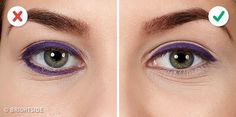 10 erreurs qui ruinent votre Winged Eyeliner Purple Eyeliner, Winged Eyeliner, Highlighter Makeup, Contour Makeup, Eye Makeup, Beauty Makeup, Tips For Oily Skin, Long Length Hair, How To Apply Eyeliner