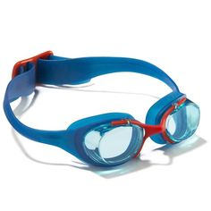 Sprzet plywacki Pływanie, Aquafitnes - Okularki pływackie XBASE BLUE/RED junior NABAIJI - Sprzęt pływacki