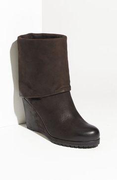 Prada Cuff Wedge Heel Boot