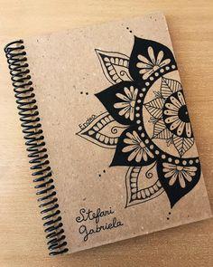 ndra notes ✨ Cuaderno personalizado a Tumbes ♥️ para @morettistefani ��� Diy Agenda, Bullet Journal Art, Notebook Covers, Planner, Mandala Design, Doodle Art, Art Quotes, Book Art, Design Art