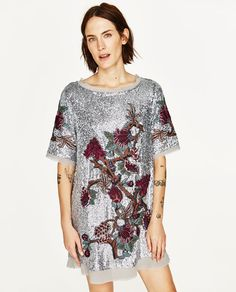 Image 2 of SEQUIN MINI DRESS from Zara