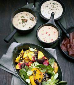 Schweizer Käsefondue mit Pilzen und Salbei - Rezepte - [LIVING AT HOME]