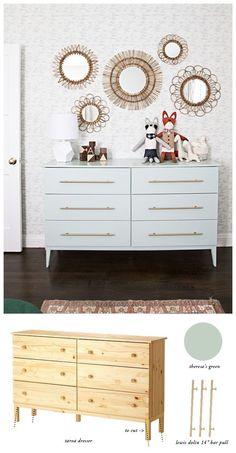 Baby Furniture Diy Dresser Ikea Hacks New Ideas Bedroom Storage Ideas For Clothes, Bedroom Storage For Small Rooms, Retro Furniture, Ikea Furniture, Furniture Makeover, Baby Furniture, Bedroom Furniture, Furniture Stores, Wardrobe Furniture