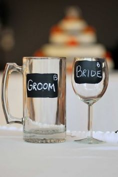 4 ways to dress up your wedding glasses | Invitations by Dawn