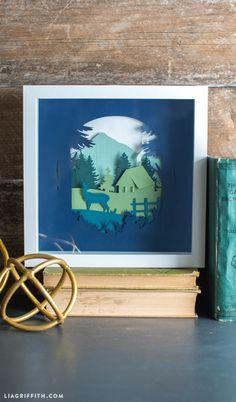Woodland paper cut artwork DIY