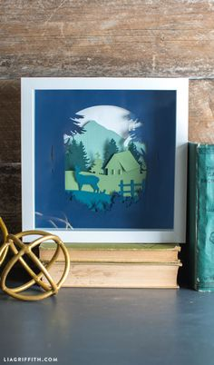 DIY Woodland Paper Cut Artwork from MichaelsMakers Lia Griffith