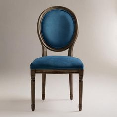 What do you think of this blue chair Mom? Peacock Ella Side Chairs, Set of 2 Dining Chairs Uk, Dining Room Furniture, Side Chairs, Home Furniture, Room Chairs, Furniture Refinishing, Dining Rooms, Composite Adirondack Chairs, Furniture Inspiration