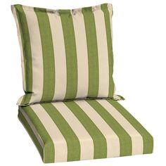 41 In L X 21 In W Merrill Stripe Cilantro Patio Chair Cushion