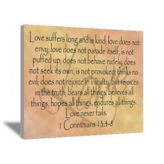 Canvas Wall Art with Quotes | ... > Wall Art > Canvas Art > Framed Bible Verse, Love Canvas Art