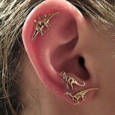 *New option available! Choose either a pair of matching earrings or get a set of three earrings (1 T-Rex, 1 Stegosaurus, and 1 Brontosaurus) in