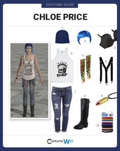 The best cosplay guide for dressing with the punk look of Chloe Price, a character from the popular Square Enix video game Life Is Strange.