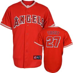Mike Trout Jersey: Alternate Red Los Angeles Angels of Anaheim Jersey #angels #anaheim #mlb