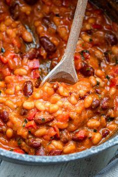 Wege chili w sosie dyniowym składników) - Wilkuchnia Chili, Chana Masala, Food Porn, Lunch Box, Beans, Food And Drink, Gluten Free, Vegetarian, Favorite Recipes