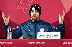 Chris Mazdzer explains what is going through his mind being in the Olympic podium press conference - U.S. Olympic Team  ‏  Verified account     @TeamUSA    2h2 hours ago  Caption this:  Chris Mazdzer and USA Luge