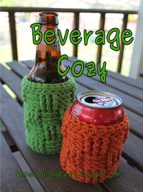 Katie Cooks and Crafts: Basket Weave Beverage Cozy