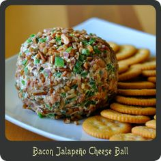 KEEPER Bacon Jalapeño Cheese Ball—Super quick, cheap, and easy to make. Perfect for those summer bbqs! Appetizers For Party, Appetizer Recipes, Party Snacks, Fromage Cheese, Gluten Free Puff Pastry, Jalapeno Cheese, Stuffed Jalapenos With Bacon, Cheese Ball Recipes, All I Ever Wanted