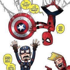 #peterparker #Spiderman #ironman #tonystark #steverogers #captainamerica