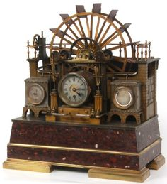 French Industrial Water Wheel Clock : Lot 112