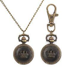 Sale Preis: Crown Muster Metallic Schl¨¹sselbund Uhr / Halskette Uhr (1 St.) , Halskette Uhr. Gutscheine & Coole Geschenke für Frauen, Männer und Freunde. Kaufen bei http://coolegeschenkideen.de/crown-muster-metallic-schl%c2%a8%c2%b9sselbund-uhr-halskette-uhr-1-st-halskette-uhr