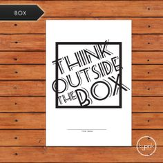 *Poster Type*- Think outside the box