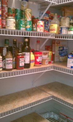 Covered Those Crazy Wire Shelves In Our Pantry With Linoleum Tiles...the  Self