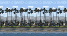 Stereogram by 3Dimka: Santa Barbara. Tags: santa barbara, city, street, beach, palms, trees, lighthouse,cars, hidden 3D picture (SIRDS)